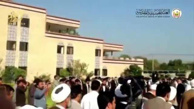 بالا بردن پرچم های عتبات مقدس در پاکستان (اسلام آباد)