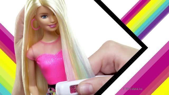تبلیغ عروسک باربی و موهای رنگی