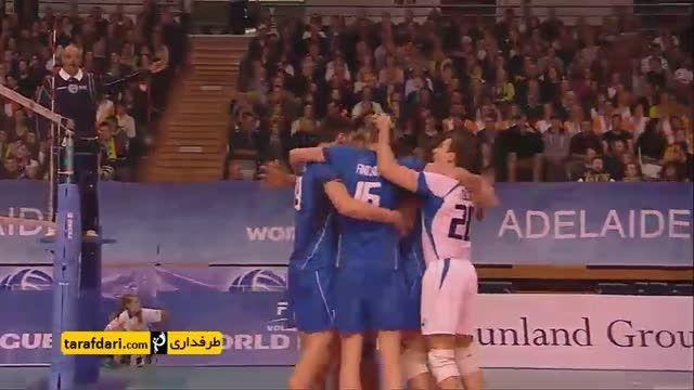 لیگ جهانی والیبال (استرالیا 1-3 ایتالیا)
