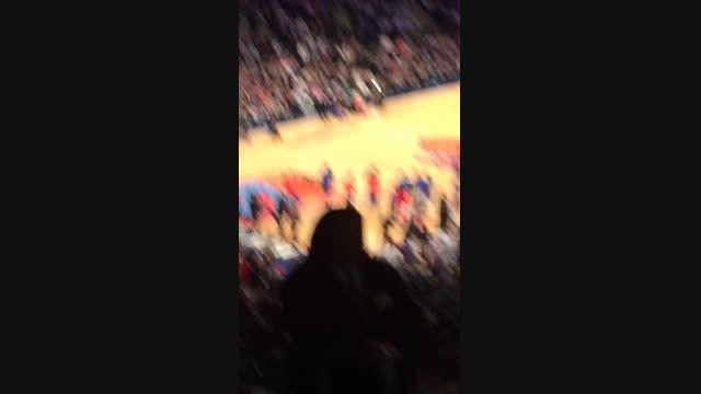 بسکتبال .مسابقه نیویورک و لس انجلس رفتیم تو نیویورک