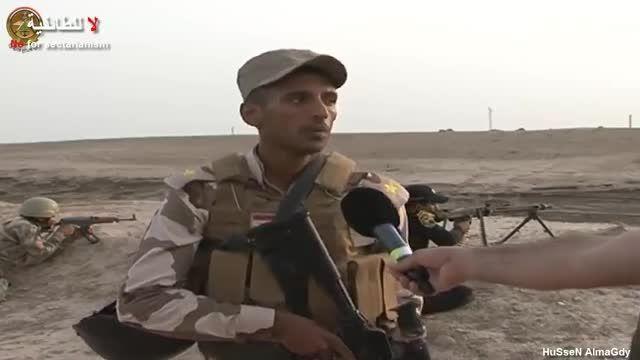 حملات ارتش عراق به مواضع خوک صفتان داعش در رمادی