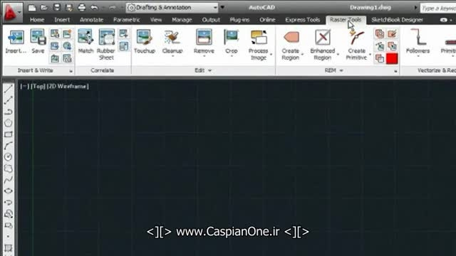 ابزار اسکن تبدیل عکس تصویر به فایل اتوکد Raster Design