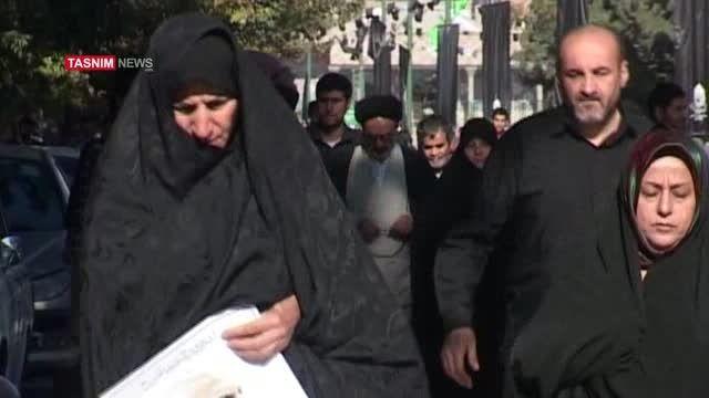 مراسم تشییع و تدفین پیکرسردار شهید همدانی
