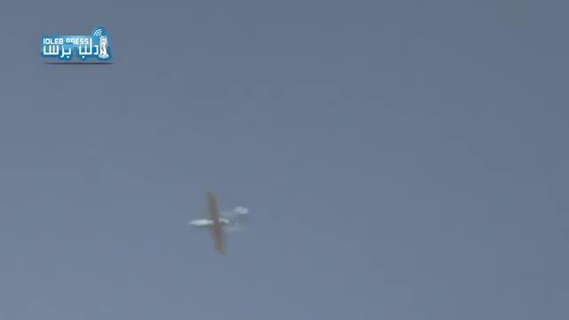 """سوریه - پرواز پهپاد ایرانی """"مهاجر 4"""" بر فراز ادلب"""