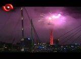 نور افشانی به مناسبت آغاز سال نو میلادی در نیوزلند