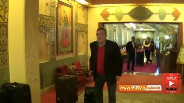 از هتل تا ورزشگاه فولادشهر با پرسپولیسی ها