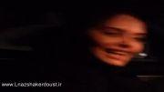 الناز شاکردوست در BMW همراه با خواهرش الیکا - (مهر 92)