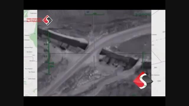 حمله جنگنده روسیه به انبار سلاح داعش در جاده حلب حماه