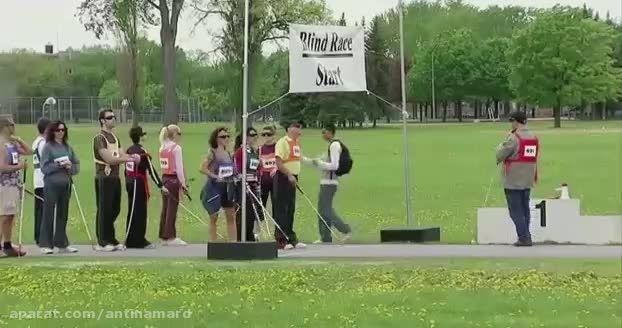 دوربین مخفی خنده دار مسابقه دومیدانی نابینایان!