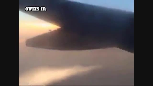 لحظه هجوم جنگنده عربستانی به هواپیمای ایرانی