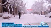بارش سنگین برف در سپیدان و تعطیلی مدارس