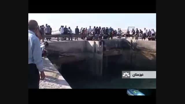 حادثه ناگوار سقوط پیکان وانت در کانال سنجر دزفول