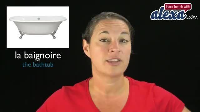 آموزش نام اشیاء موجود در دستشویی و حمام (زبان فرانسه)