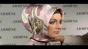 آموزش بستن روسری ساده و زیبا