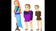 خانواده سه نفره یونانی(خودم کشیدم)