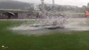 تفریح بازیکنان ناپولی در باران حالی میکنن ....
