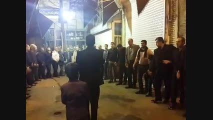 هیت عزاداران بازار بزازان تبریز  مداح  نوروزی شب دوم 94