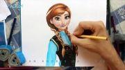 آموزش نقاشی آنا