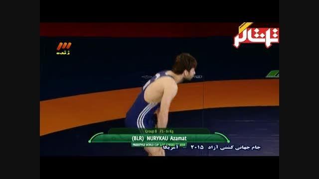 پیروزی مقتدرانه محمدی مقابل بلاروس؛ ۶۵ کیلوگرم