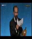 مراسم اسکار 2012-گرفتن جایزه اسکار توسط اصغر فرهادی