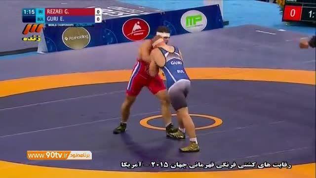 پیروزی قاسم رضایی مقابل بلاروس در نیمه نهایی (۹۶کیلوگرم