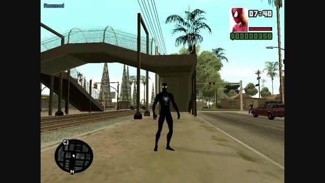 اسکین مرد عنکبوتی شگفت انگیز 2 سیاه ساخت خودم