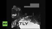 انفجار انبار اسلحه داعش بعد از حمله هوایی امریکا