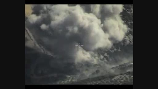 انهدام مقر فرماندهی داعش به وسیله سوخو 25 و 24