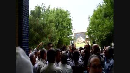 استقبال مردم شهر کیان از دکتر احمدی نژاد 2