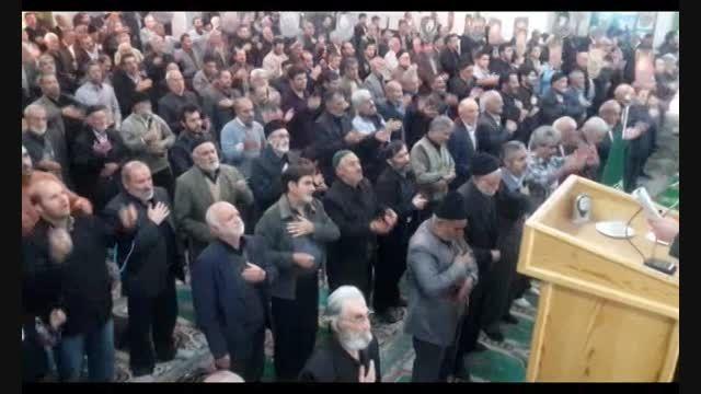 مراسم عزاداری اربعین حسینی قبل از نماز جمعه 21 آذر ماه
