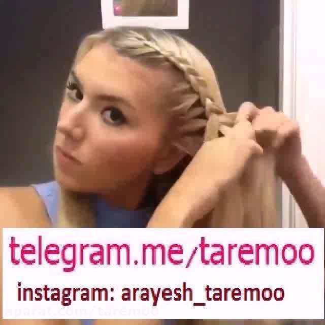 آموزش بافت مو دخترانه در تار مو