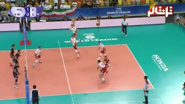 بازی اول والیبال ایران - لهستان ( ست دوم - گزارشگر لهست