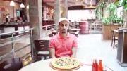 عشق به پیتزاچه کارهایی که میکنه!!