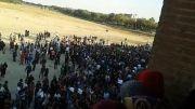 تظاهرات امروز اصفهان در اعتراض به خشکی زاینده رود