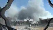 ویران شدن پایگاه تروریست ها توسط توپخانه ارتش سوریه
