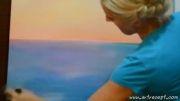 نقاشی بسیار زیبای دریا با رنگ روغن - از هنرمند روسی