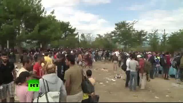 حمله پلیس به پناهجویان در مقدونیه