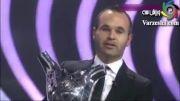اینیستا بهترین بازیکن اروپا شد.