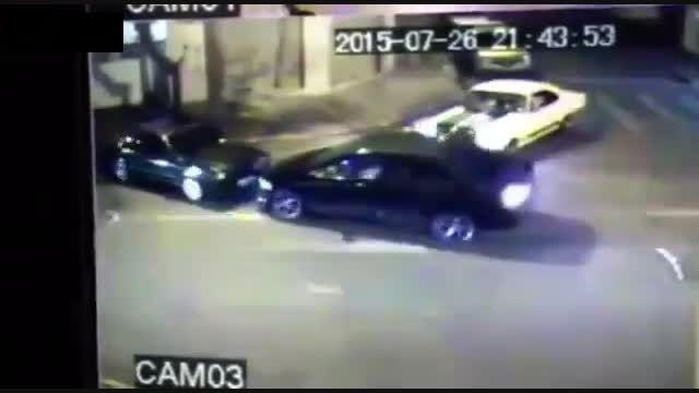 درگیری دو راننده فاقد اعصاب