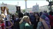 حمله گروهی از مسیحیان ارتدوکس به تجمع فعالان حقوق همجنسگرایان در تفلیس