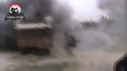 مرگ چند تروریست ارتش آزاد با خمپاره ارتش سوریه