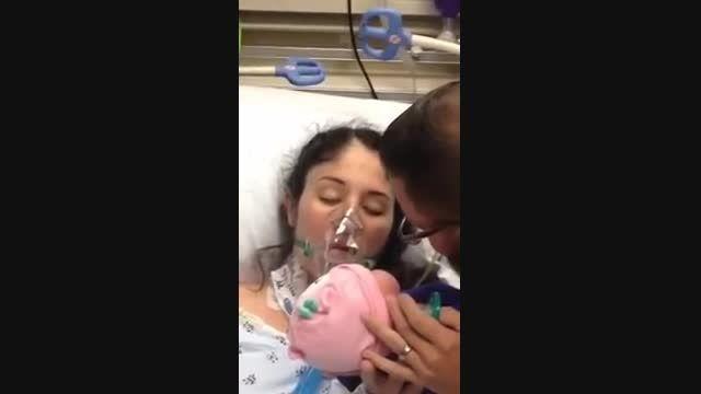 خارج شدن مادر جوان از کما با شنیدن صدای گریه نوزادش
