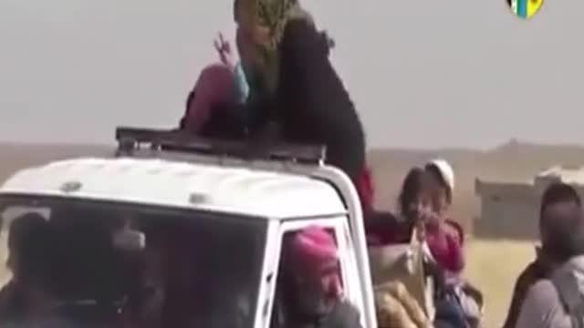 سوریه:شادی زن های ایزدی ازاد شده از دست داعش