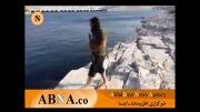 شناکردن داعشی های کثیف در سد موصل