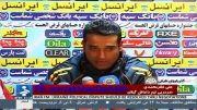 علی نظرمحمدی در نشست خبری پس از بازی مقابل تراکتورسازی