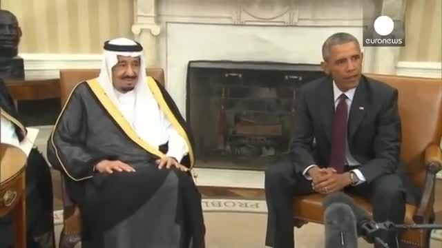 دیدار ملک سلمان پادشان عربستان با باراک اوباما