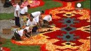 فرشی از گل به مناسبت سالگرد ورود کارگران ترک به المان
