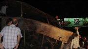 تصادف دو اتوبوس جاده 30 کیلومتری قم- -تهران