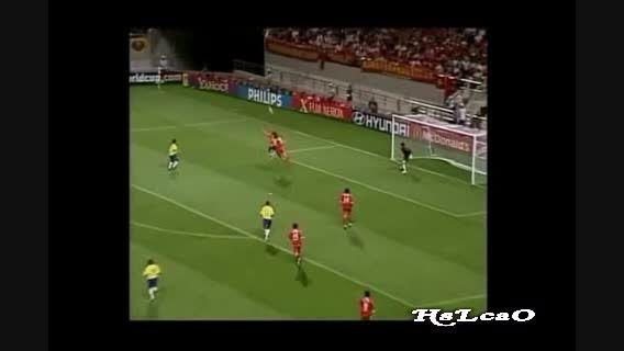 گلهای تیم ملی برزیل در جام جهانی 2002