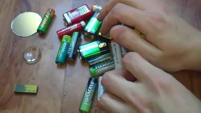 حرکتی جالب با باتری و آهنربا